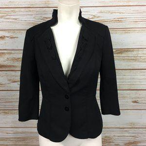 WHBM Ruffled Blazer Jacket 3/4 Sleeve Size 00